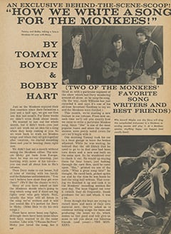 <cite>Flip</cite> (July 1967), How We Write a Song for The Monkees, Page 31
