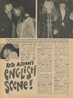 <cite>Flip</cite> (July 1967), Keith Altham's English Scene, Page 44