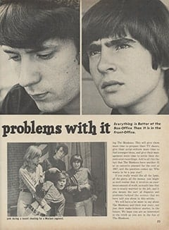 <cite>Hullabaloo</cite> (July-August 1967), Trouble Behind the Scenes with The Monkees, Page 21