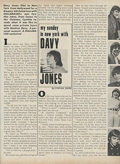 <cite>Hullabaloo</cite> (July-August 1967), My Sunday in New York with Davy Jones, Page 37