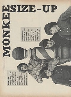 <cite>Hullabaloo</cite> (July-August 1967), Monkee Size-Up, Page 46