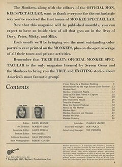 <cite>Monkee Spectacular</cite> (July 1967), Introduction, Page 03