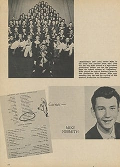 <cite>Monkee Spectacular</cite> (July 1967), Mike Nesmith by His High School Choir Teacher, Page 14