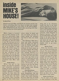 <cite>Monkee Spectacular</cite> (July 1967), Inside Mike&rsquo;s House, Page 22