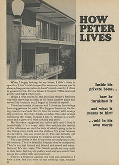 <cite>Monkee Spectacular</cite> (July 1967), How Peter Lives, Page 24