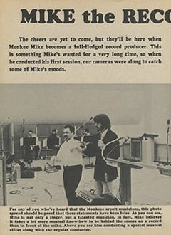 <cite>Monkee Spectacular</cite> (July 1967), Mike the Record Producer, Page 32