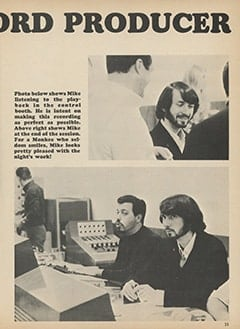 <cite>Monkee Spectacular</cite> (July 1967), Mike the Record Producer, Page 33