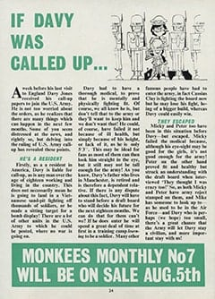 <cite>Monkees Monthly</cite> (July 1967), If Davy Was Called Up, Page 24