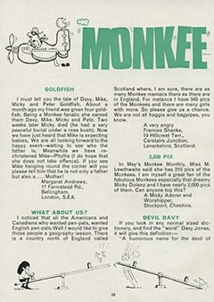 <cite>Monkees Monthly</cite> (July 1967), Monkee Mail, Page 28