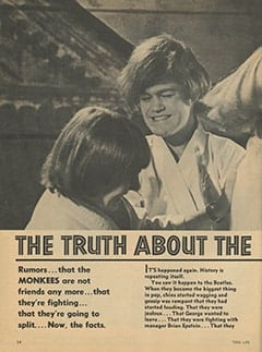<cite>Teen Life</cite> (July 1967), The Truth About The Monkees Break-Up, Page 14