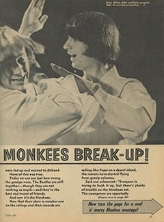 <cite>Teen Life</cite> (July 1967), The Truth About The Monkees Break-Up, Page 15