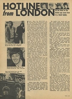 <cite>Teen Life</cite> (July 1967), Hotline from London, Page 18