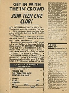 <cite>Teen Life</cite> (July 1967), Mike Nesmith&rsquo;s True Identity, Page 58