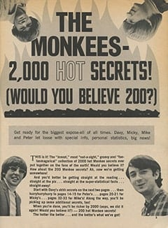 <cite>Teen World</cite> (July 1967), The Monkees—2,000 Secrets! (Would You Believe 200?), Page 05