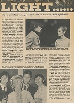 <cite>Teen World</cite> (July 1967), Star Light&hellip; Star Bright, Page 11