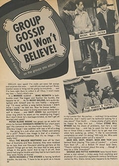 <cite>Teen World</cite> (July 1967), Group Gossip You Won't Believe, Page 22