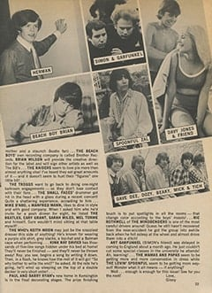<cite>Teen World</cite> (July 1967), Group Gossip You Won't Believe, Page 23
