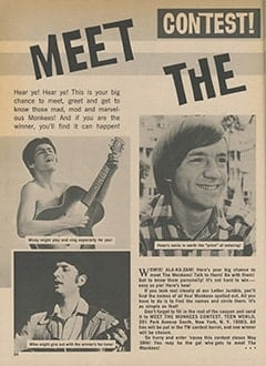 <cite>Teen World</cite> (July 1967), Contest! Meet The Monkees, Page 24