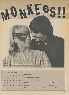 <cite>Teen World</cite> (July 1967), Contest! Meet The Monkees, Page 25