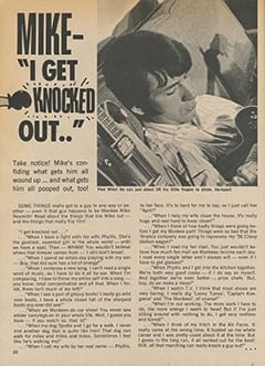 "<cite>Teen World</cite> (July 1967), Mike—""I Get Knocked Out.."", Page 32"