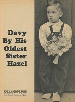 <cite>Tiger Beat</cite> (July 1967), Davy by His Oldest Sister Hazel, Page 03