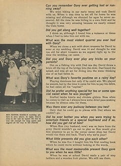 <cite>Tiger Beat</cite> (July 1967), Davy by His Oldest Sister Hazel, Page 04