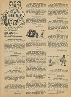 <cite>Tiger Beat</cite> (July 1967), Tiger Talk, Page 06