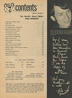 <cite>Tiger Beat</cite> (July 1967) table of contents