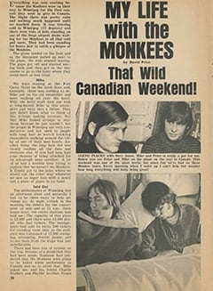 <cite>Tiger Beat</cite> (July 1967), My Life with The Monkees: That Wild Canadian Weekend, Page 28