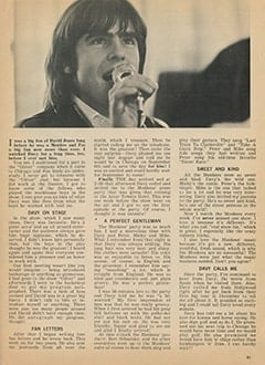 <cite>Tiger Beat</cite> (July 1967), Davy Jones by Jane Steele, Page 41