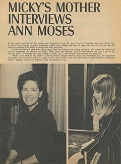 <cite>Tiger Beat</cite> (July 1967), Micky's Mother Interviews Ann Moses, Page 48