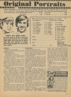 <cite>Tiger Beat</cite> (July 1967), It's Happening in Hollywood, Page 53