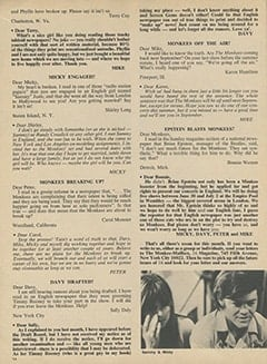 <cite>16</cite> (August 1967), The Monkee-Mailbox, Page 14