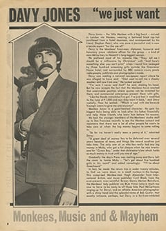 "<cite>Hit Parader</cite> (August 1967), Davy Jones: ""We Just Want to Make People Happy"", Page 08"