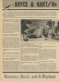 <cite>Hit Parader</cite> (August 1967), Boyce & Hart: On Monkees, Music & Mayhem, Page 10