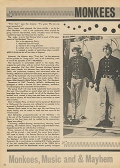 <cite>Hit Parader</cite> (August 1967), Monkees on the T.V. Set, Page 12