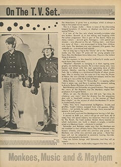 <cite>Hit Parader</cite> (August 1967), Monkees on the T.V. Set, Page 13