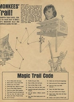 <cite>Monkee Spectacular</cite> (August 1967), Follow The Monkees' Magic Trail, Page 09