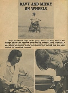 <cite>Monkee Spectacular</cite> (August 1967), Davy and Micky on Wheels, Page 14