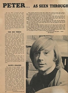 <cite>Monkee Spectacular</cite> (August 1967), Peter by His Coffee Table, Page 20