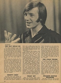 <cite>Monkee Spectacular</cite> (August 1967), Peter by His Coffee Table, Page 22