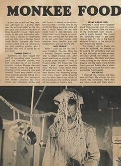 <cite>Monkee Spectacular</cite> (August 1967), Monkee Food, Page 44