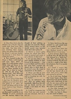 <cite>Monkee Spectacular</cite> (August 1967), Monkee Rumors, Page 47