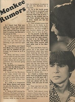 <cite>Monkee Spectacular</cite> (August 1967), Monkee Rumors, Page 49