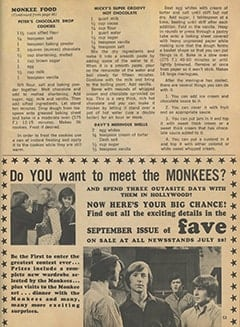 <cite>Monkee Spectacular</cite> (August 1967), Monkee Food, Page 53