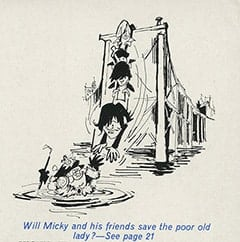 Will Micky and his friends save the poor old lady?—See page 21