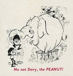 No no Davy, the PEANUT!