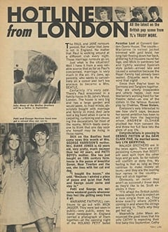 <cite>Teen Life</cite> (August 1967), Hotline from London, Page 10