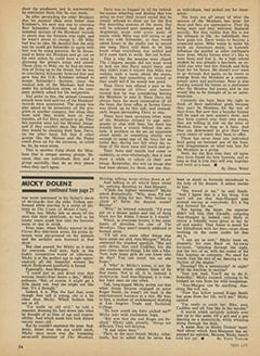 <cite>Teen Life</cite> (August 1967), Micky Dolenz Confesses: His Heart Belongs to Ann-Margret, Page 54