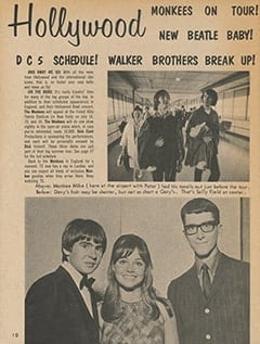 <cite>Teen Screen</cite> (August 1967), TS in Hollywood, Page 10
